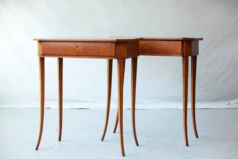 Austrian Pair of Biedermeier Side Tables For Sale