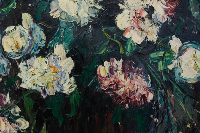 Paint Emeric Vagh-Weinmann, Peonies, 1964 For Sale