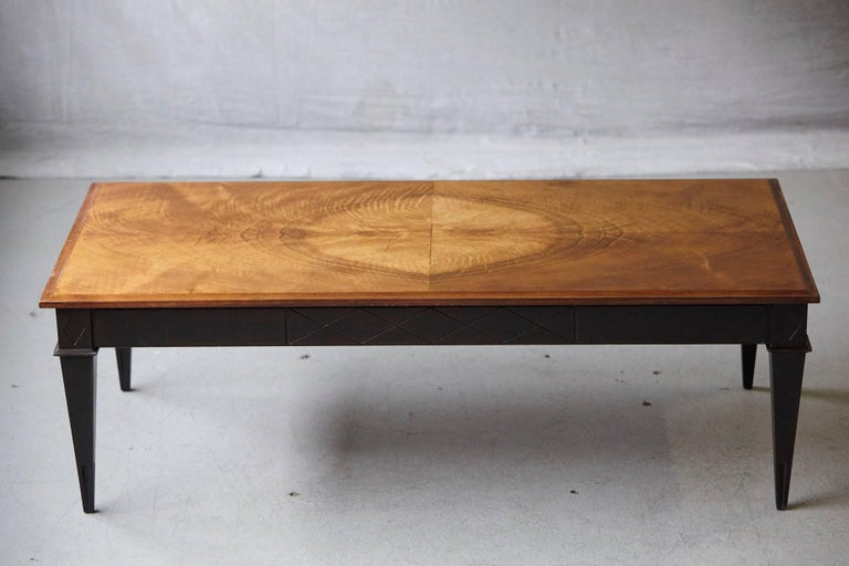John Scalia for Schmieg & Kotzian Mahogany Coffee Table In Good Condition For Sale In Weston, CT