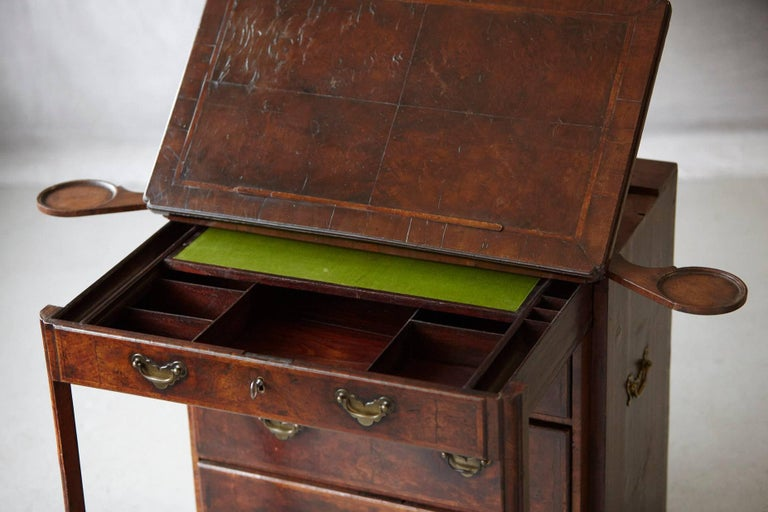 Important Queen Anne Walnut Architect's Chest, circa 1710 For Sale 1