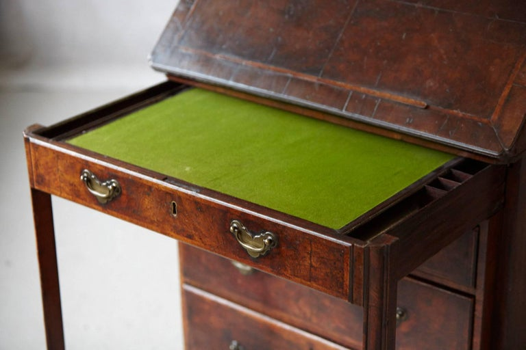 18th Century and Earlier Important Queen Anne Walnut Architect's Chest, circa 1710 For Sale