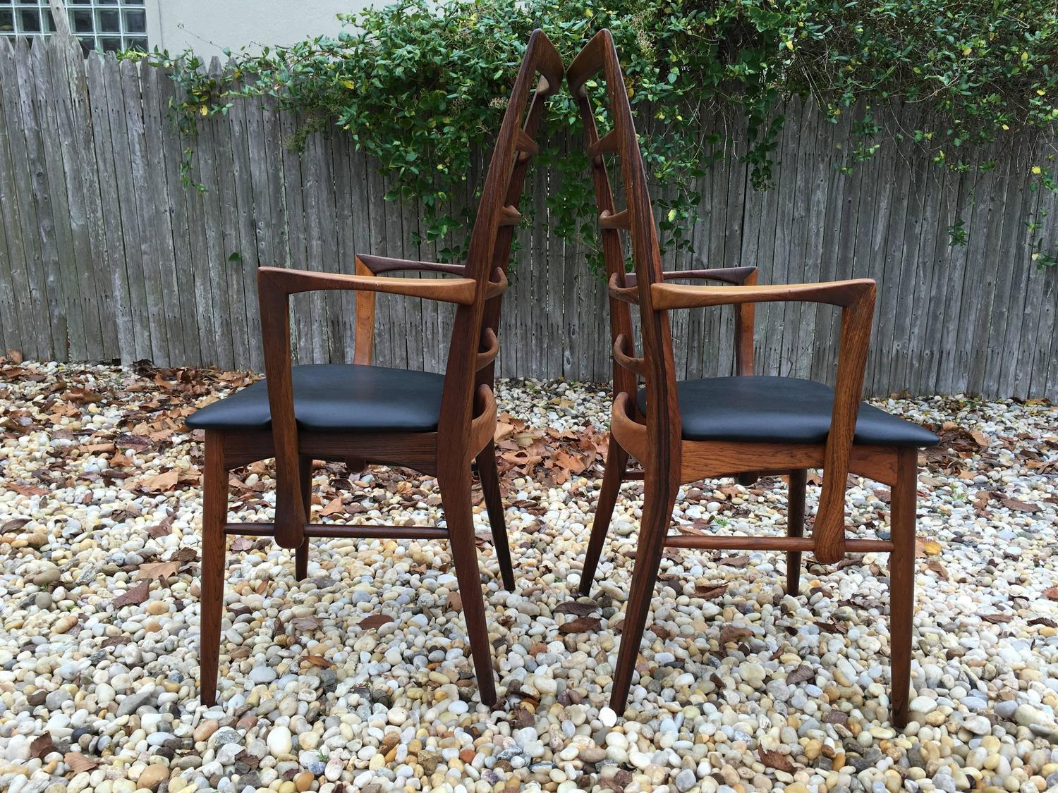 Set Of Six Rosewood Dining Chairs By Koefoeds Hornslet At 1stdibs