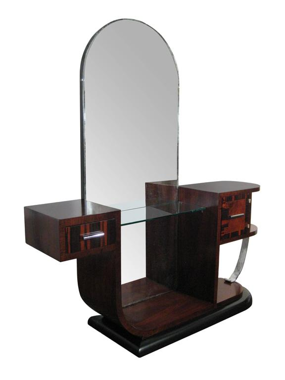 Streamline Art Deco Dressing Table France Circa 1930 For
