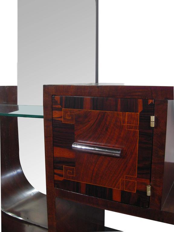 streamline art deco dressing table france circa 1930 for sale at 1stdibs. Black Bedroom Furniture Sets. Home Design Ideas