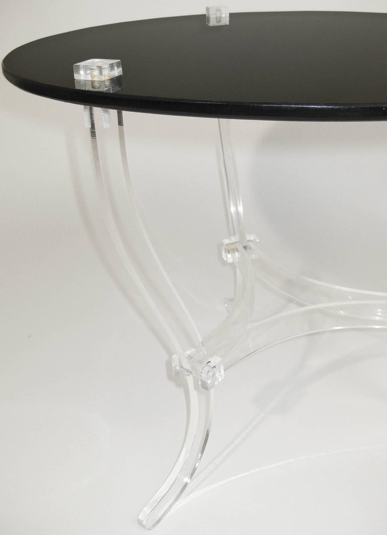 Mid Century Occasional Table. Lucite and Black Vitrolite. Mexico. Ca.1965. 2
