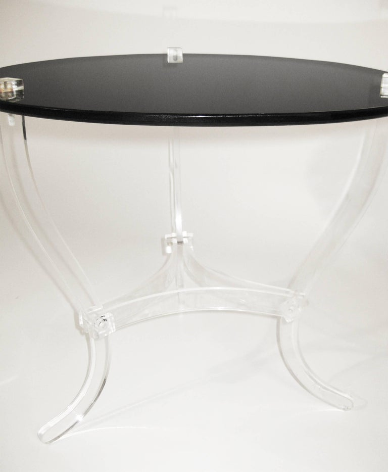 Mid Century Occasional Table. Lucite and Black Vitrolite. Mexico. Ca.1965. 5