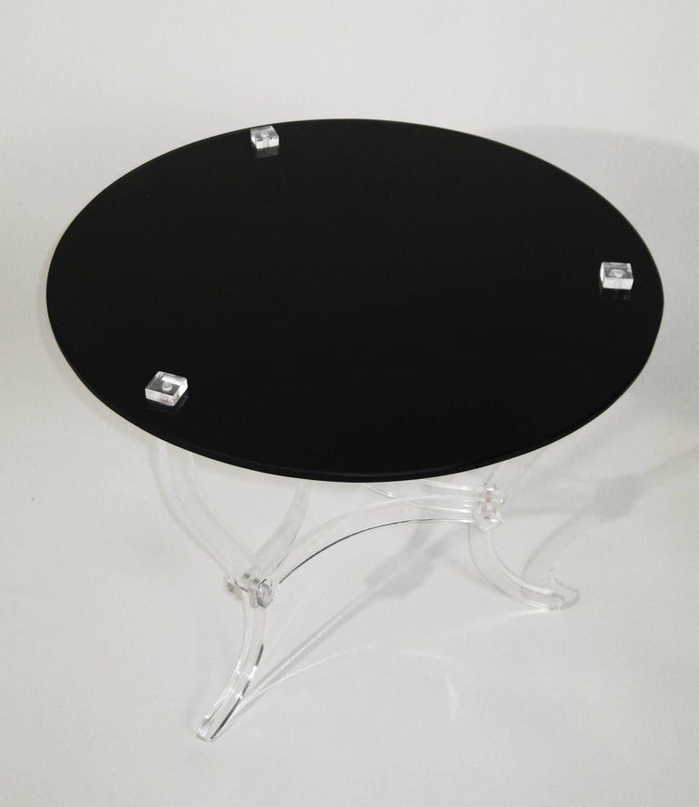 Mid Century Occasional Table. Lucite and Black Vitrolite. Mexico. Ca.1965. 6