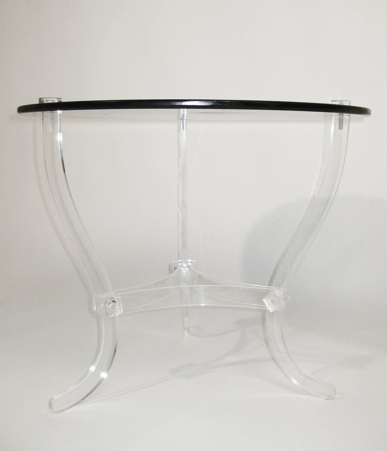Mid Century Occasional Table. Lucite and Black Vitrolite. Mexico. Ca.1965. 7
