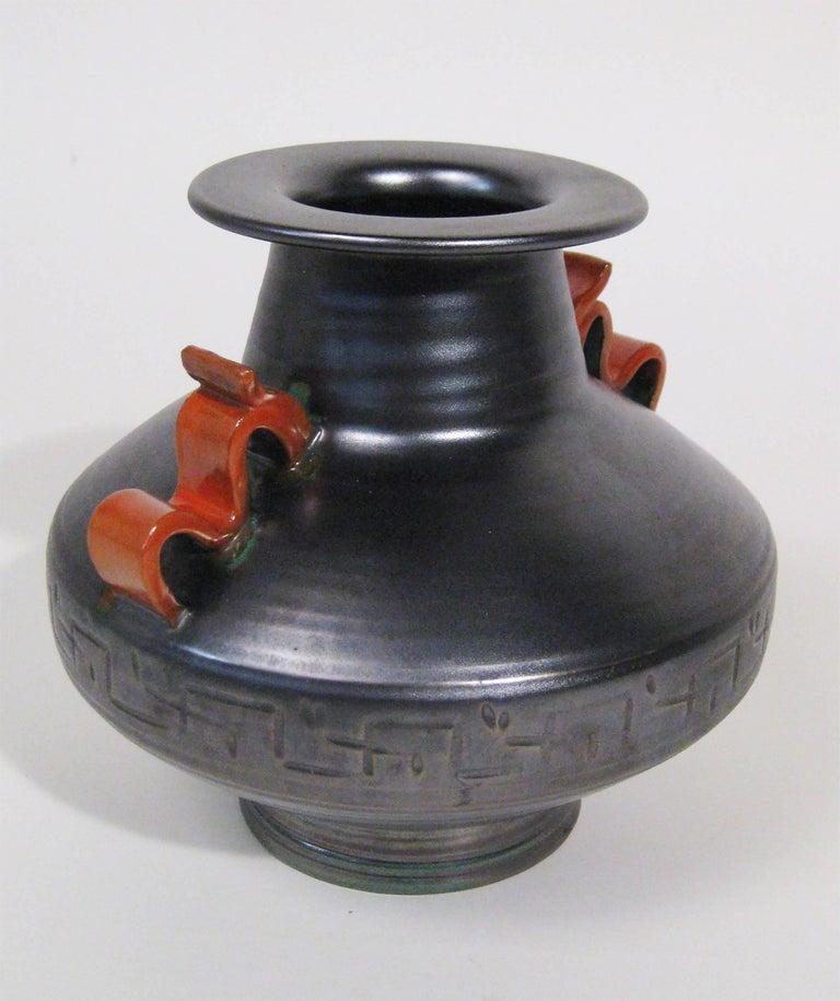 Vase Stoneware Attributed to Anna-Lisa Thomson Upsala-Ekeby, Sweden, circa 1940 2