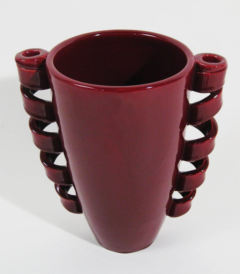 Vase Glazed Ceramic, Louis Giraud, Vallauris, France, circa 1940 2