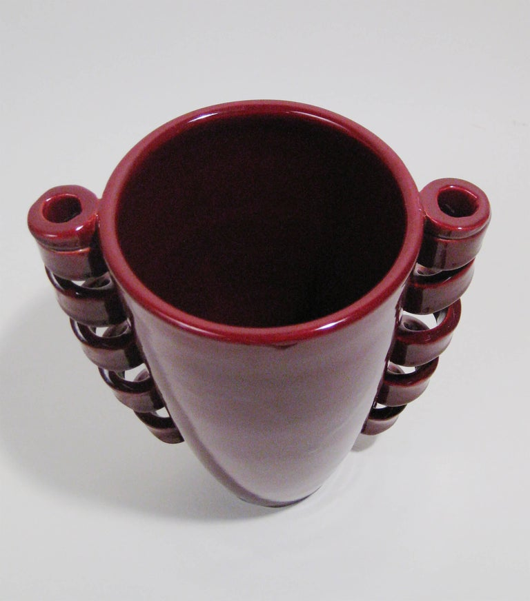 Vase Glazed Ceramic, Louis Giraud, Vallauris, France, circa 1940 6