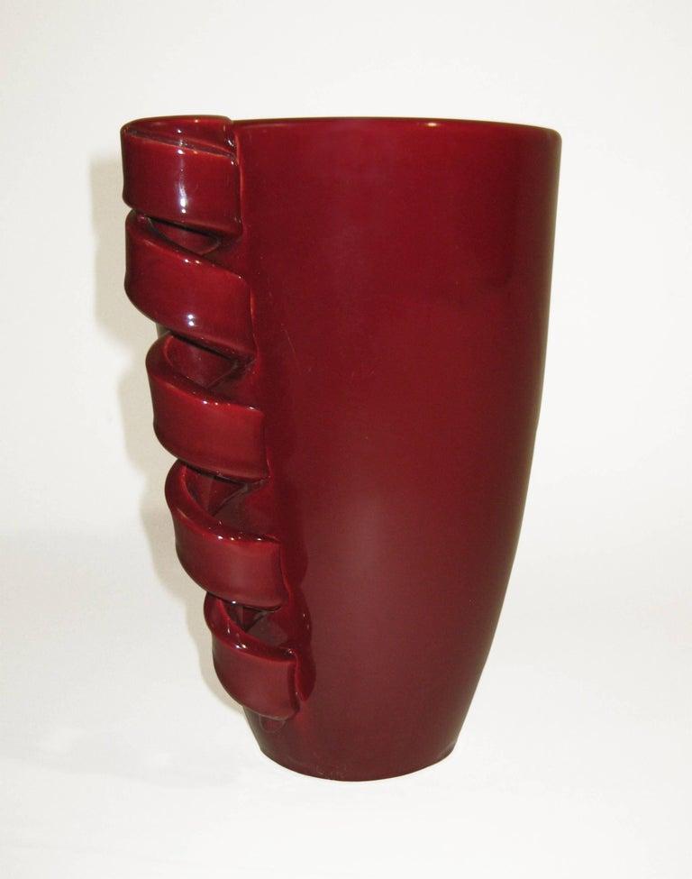 Vase Glazed Ceramic, Louis Giraud, Vallauris, France, circa 1940 7