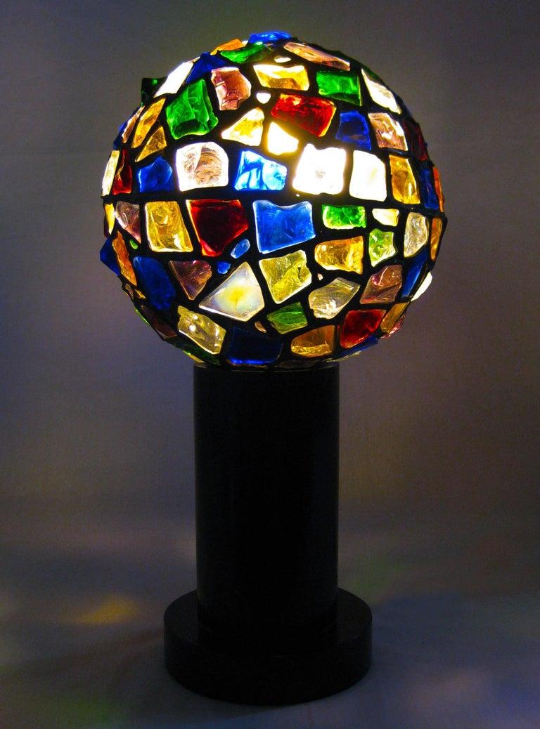 Midcentury Leaded Glass Lamp, Mexico, circa 1970 2