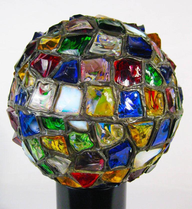 Midcentury Leaded Glass Lamp, Mexico, circa 1970 4