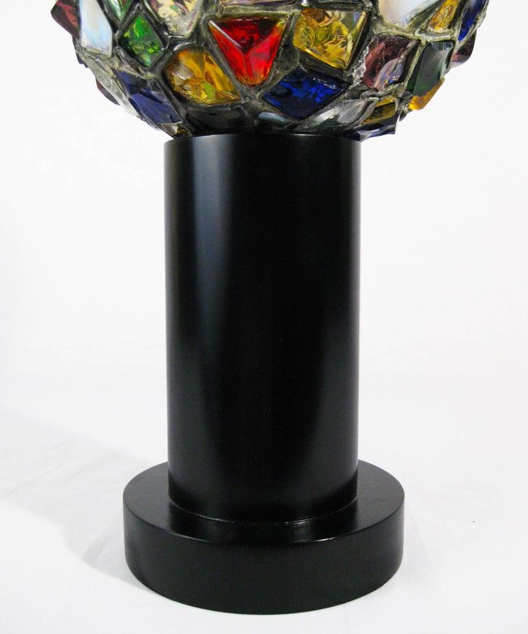 Midcentury Leaded Glass Lamp, Mexico, circa 1970 6
