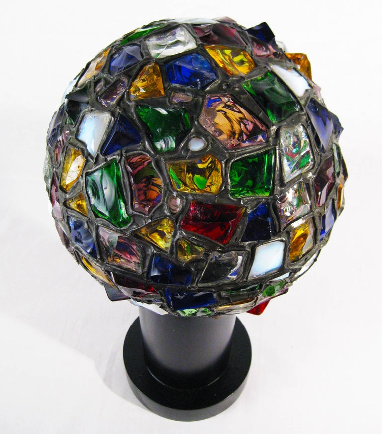 Midcentury Leaded Glass Lamp, Mexico, circa 1970 8