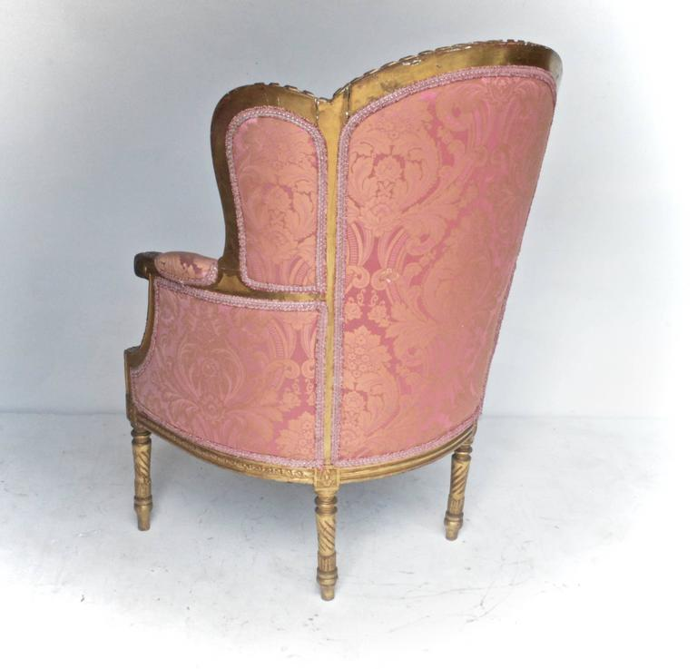 19th Century Giltwood Bergere In Good Condition For Sale In Charlottesville, VA