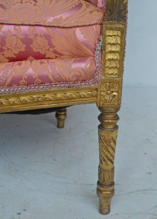 Wood 19th Century Giltwood Bergere For Sale