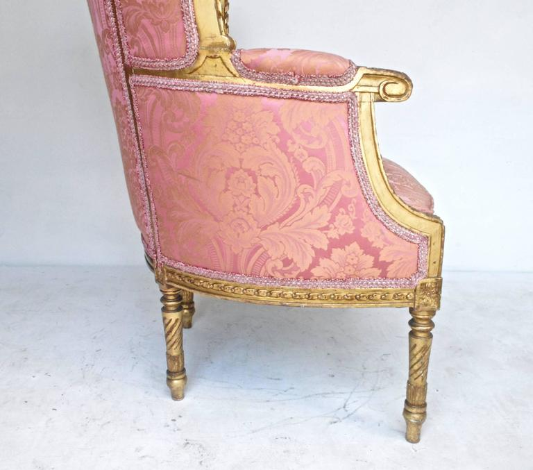 French 19th Century Giltwood Bergere For Sale