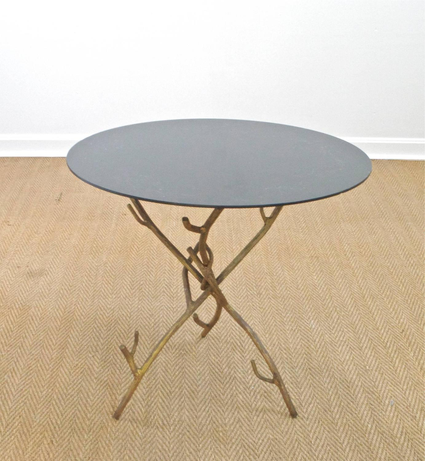 Faux bois cocktail table for sale at 1stdibs Table jardin imitation bois