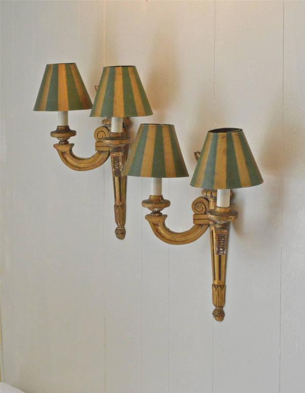 19th Century French Giltwood Sconces In Good Condition For Sale In Charlottesville, VA