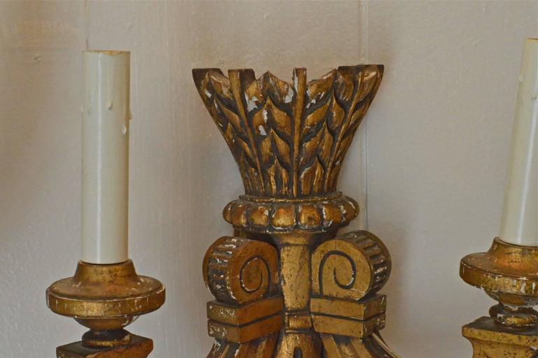 19th Century French Giltwood Sconces For Sale 1