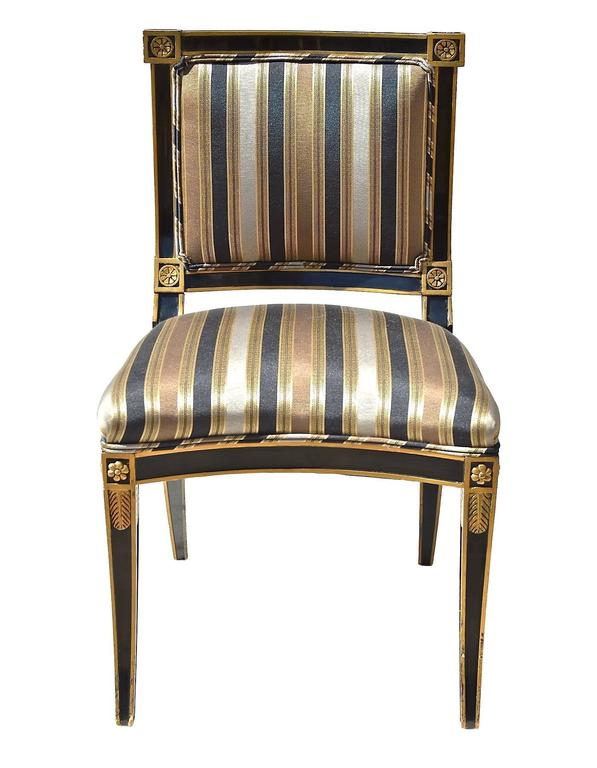 black and white bedrooms classical style chairs in black and gold at 1stdibs 14562