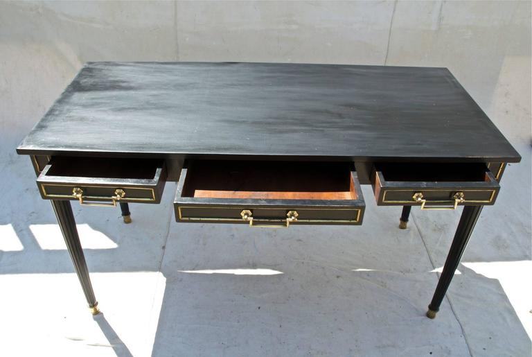 Louis Xvi Style Desk In Black And Gold For Sale At 1stdibs