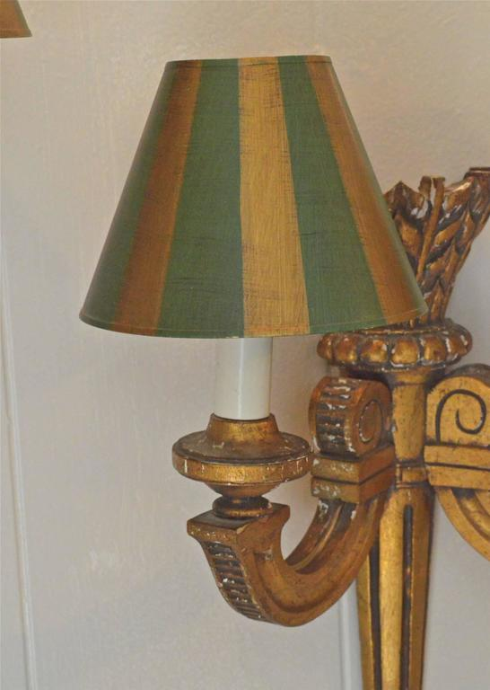 19th Century French Giltwood Sconces For Sale 4