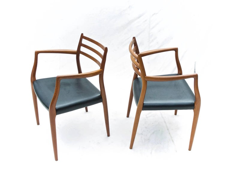 N.O. Moller Dining Chairs in Teak, Set of Six For Sale 1