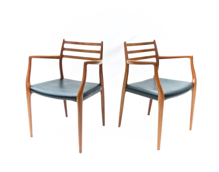20th Century N.O. Moller Dining Chairs in Teak, Set of Six For Sale
