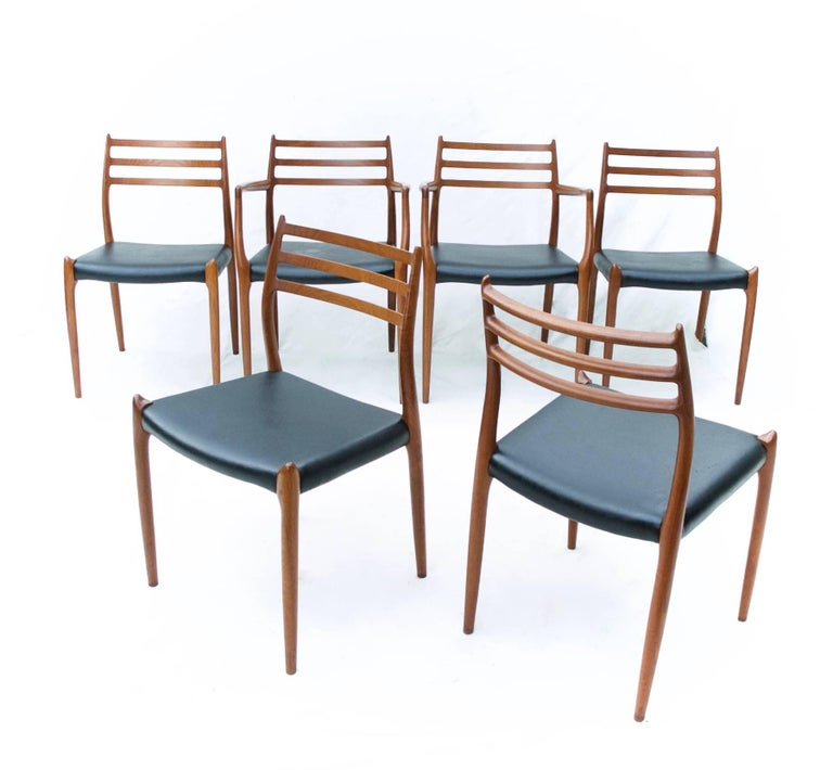N.O. Moller Dining Chairs in Teak, Set of Six For Sale 2
