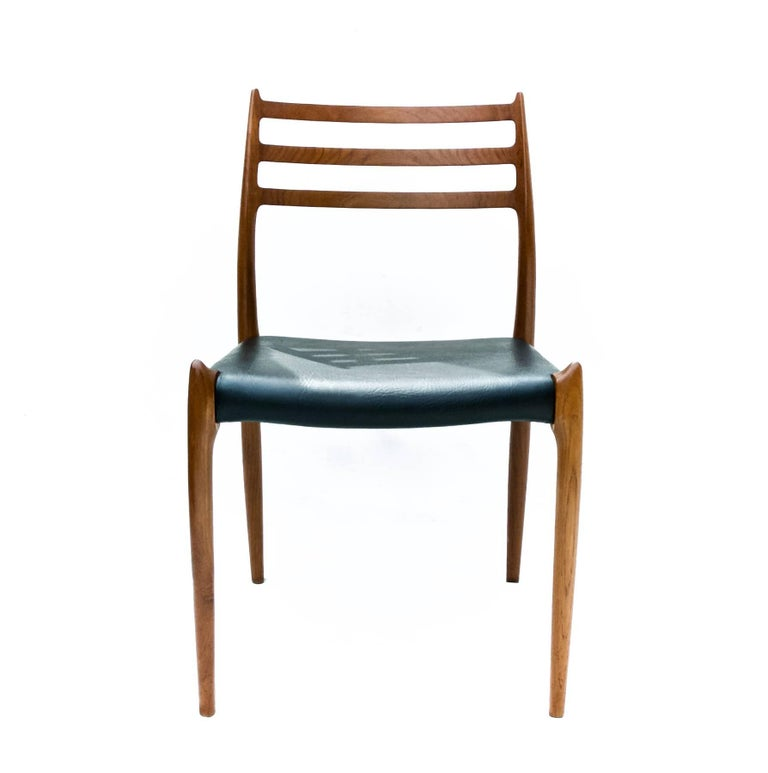 Scandinavian Modern N.O. Moller Dining Chairs in Teak, Set of Six For Sale