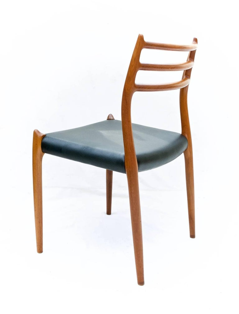 Hand-Crafted N.O. Moller Dining Chairs in Teak, Set of Six For Sale