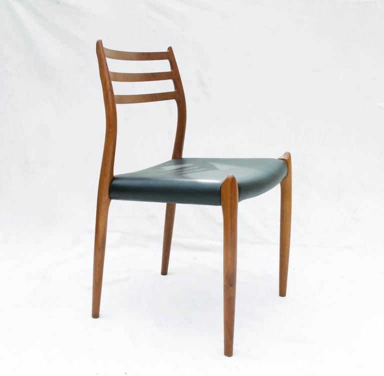 Danish N.O. Moller Dining Chairs in Teak, Set of Six For Sale