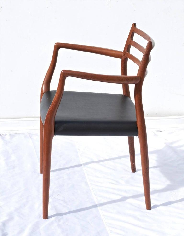 N O Moller Model 62 Danish Modern Dining Chairs Of Teak