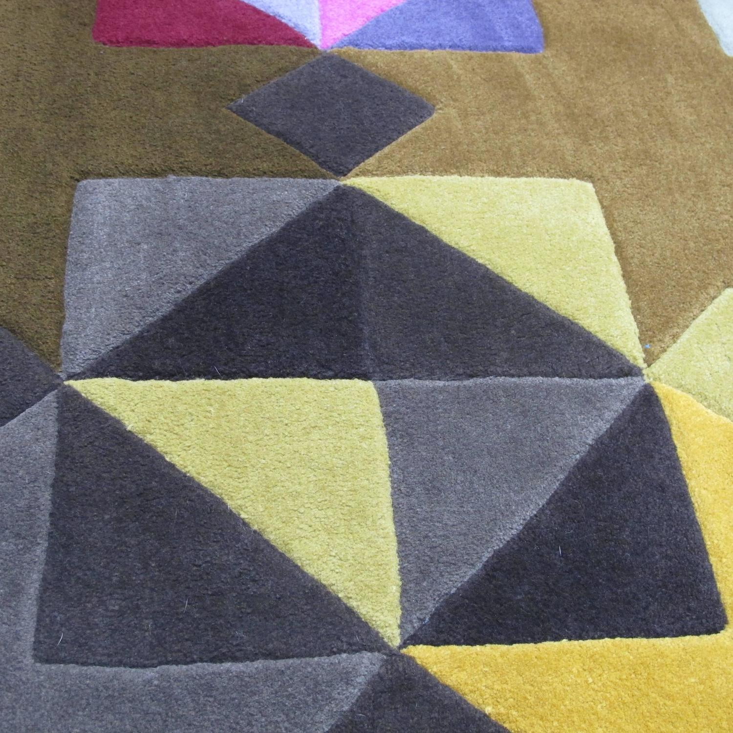 Geometric Triangles Rug For Sale At 1stdibs