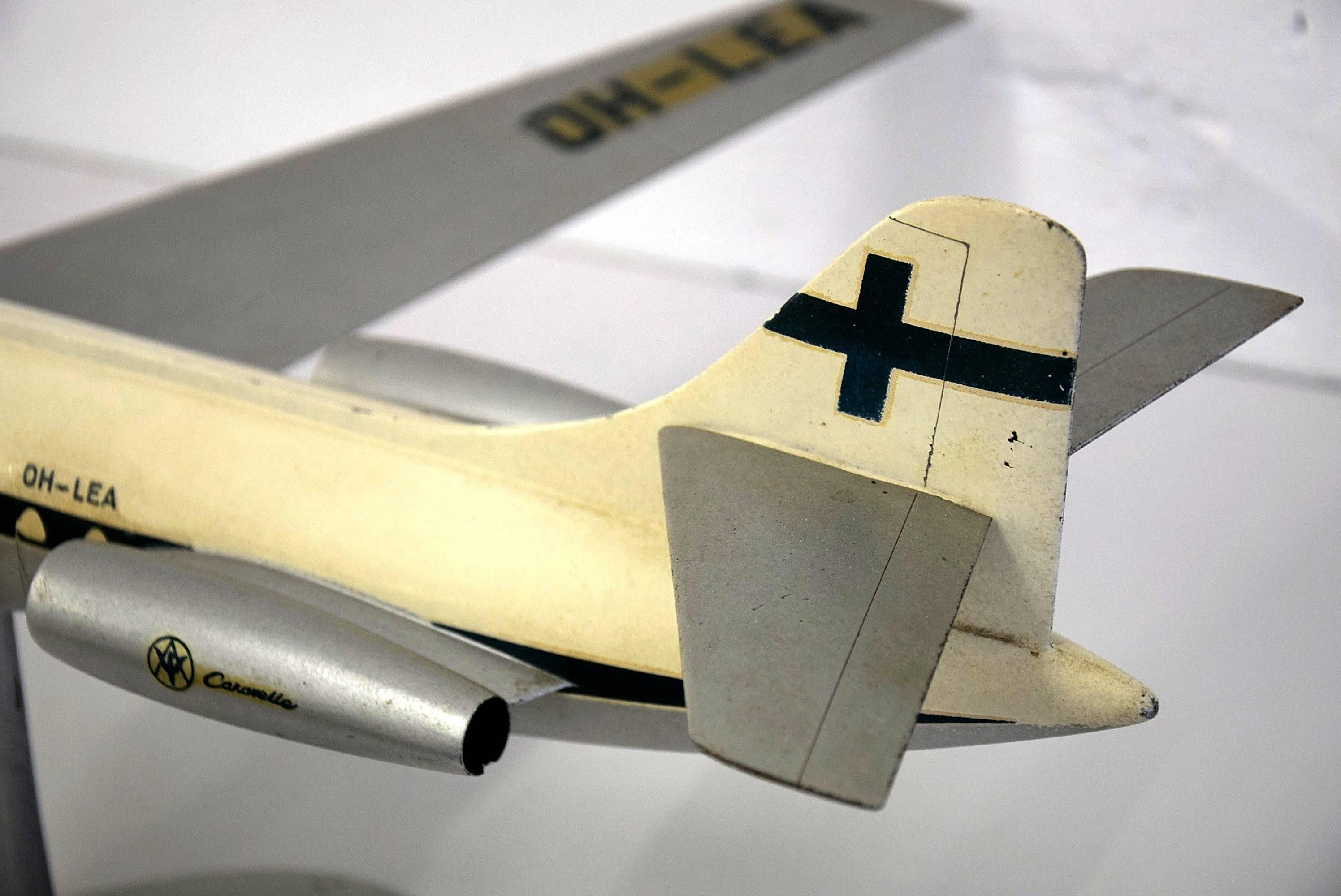 Caravelle Late 1950s Finnair Airplane Model For Sale at 1stdibs