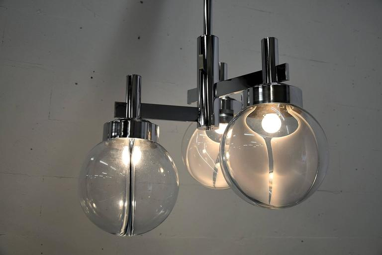 Late 20th Century Venini Mid Century Modern Ceiling Lamp For Sale