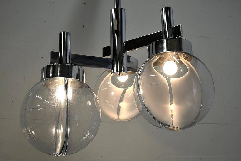Venini Mid Century Modern Ceiling Lamp For Sale 2