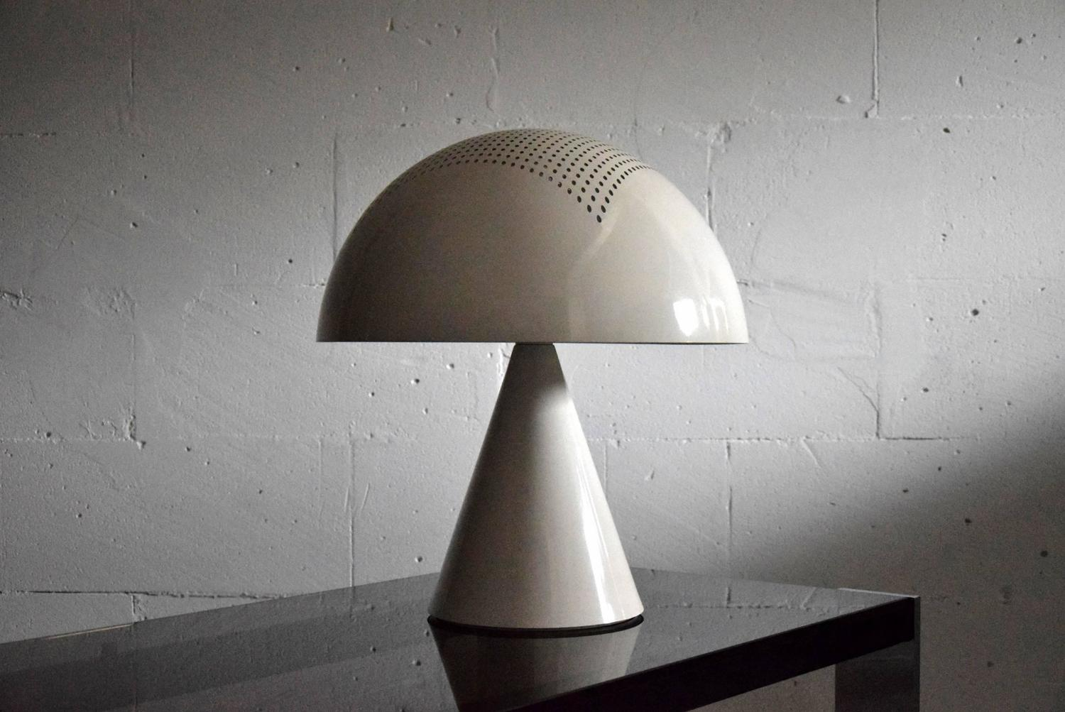 Mid-Century Modern White Table Lamp For Sale At 1stdibs