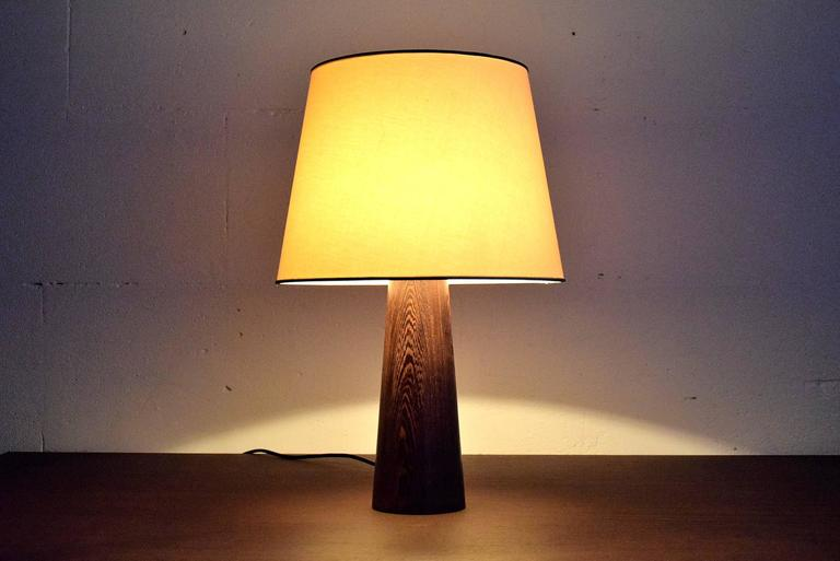1960s Danish Wenge Table Lamp For Sale 4