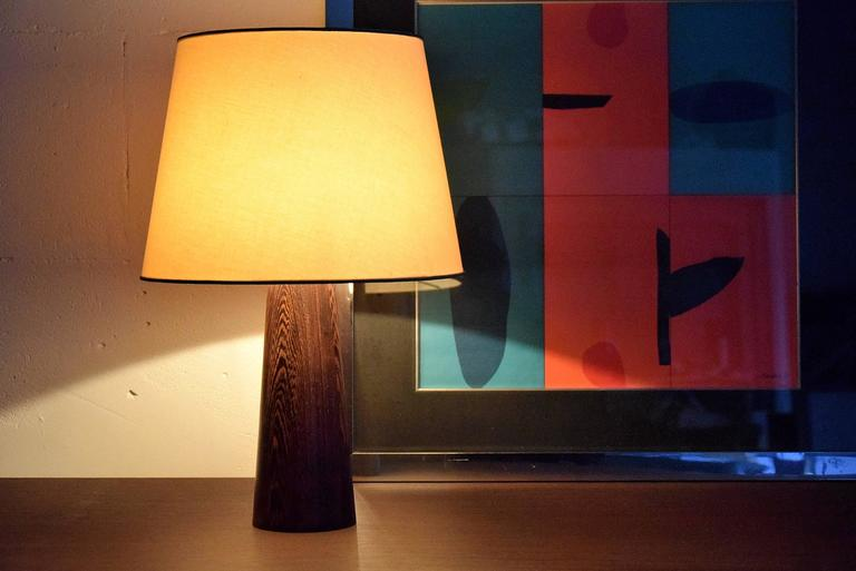 1960s Danish Wenge Table Lamp For Sale 1