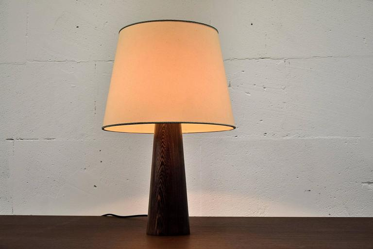 Mid-20th Century 1960s Danish Wenge Table Lamp For Sale
