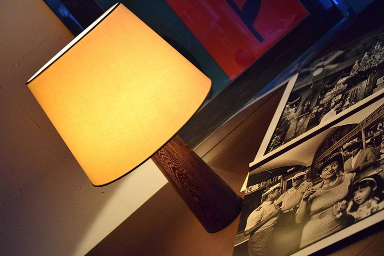 1960s Danish Wenge Table Lamp For Sale 5