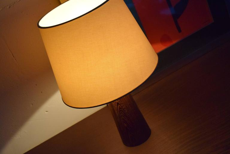 1960s Danish Wenge Table Lamp For Sale 2