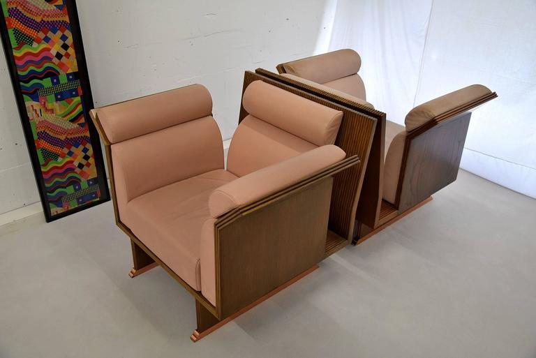 Leather Pretenziosa Chairs by Ugo La Pietra, 1983 For Sale