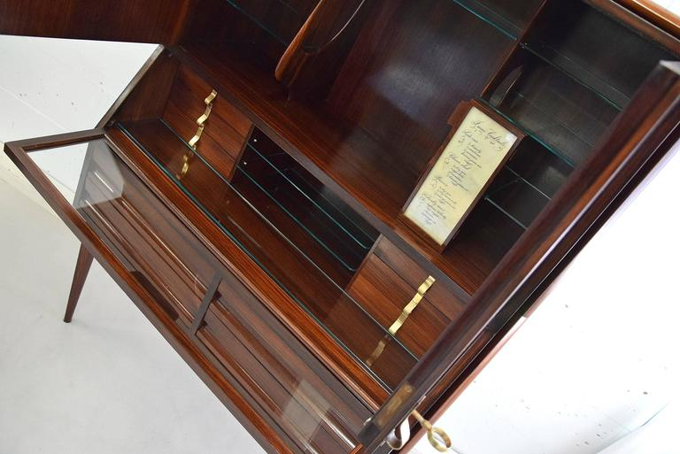 Ico Parisi Mid Century Modern Rosewood Credenza In Good Condition For Sale In Weesp, NL