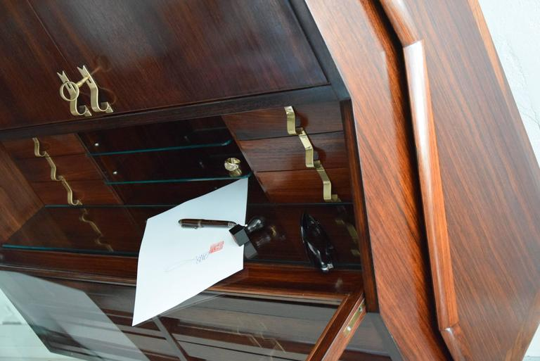 Ico Parisi Mid Century Modern Rosewood Credenza For Sale 1