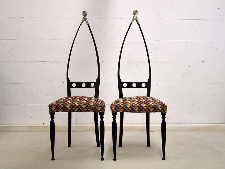 Mid century  Modern chairs by Pozzi and Verga For Sale 2